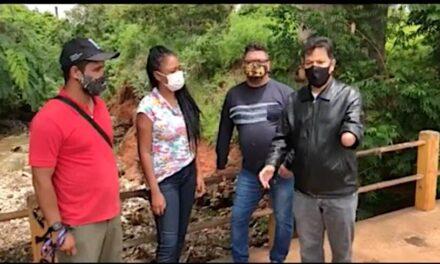 COMISSÃO ESPECIAL DE ACOMPANHAMENTO DE ÁREAS DE RISCO VISITAM O VIADUTO DOMINGOS COSTA